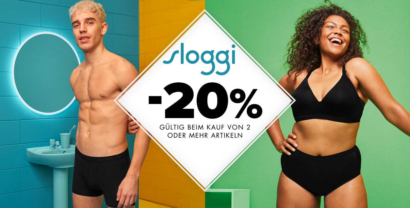 sloggi 20% Rabatt - upperty.de